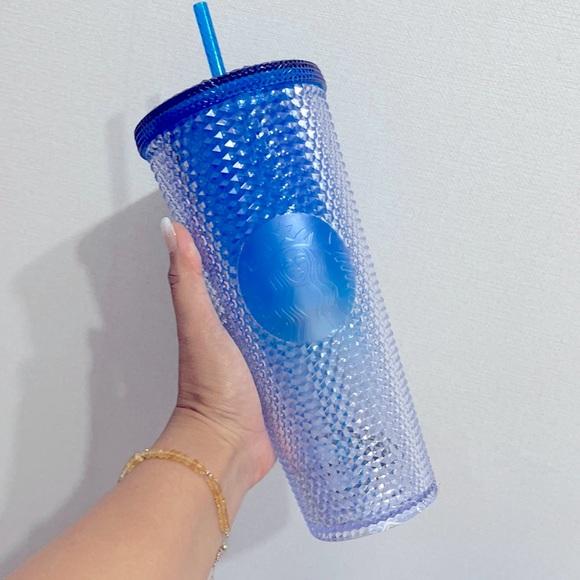 Starbucks Blue ombré studded